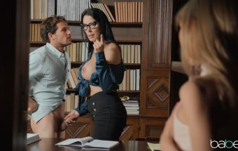 Whispers The Library – Reagan Foxx & Mackenzie Moss – Step Mom Lessons, Babes