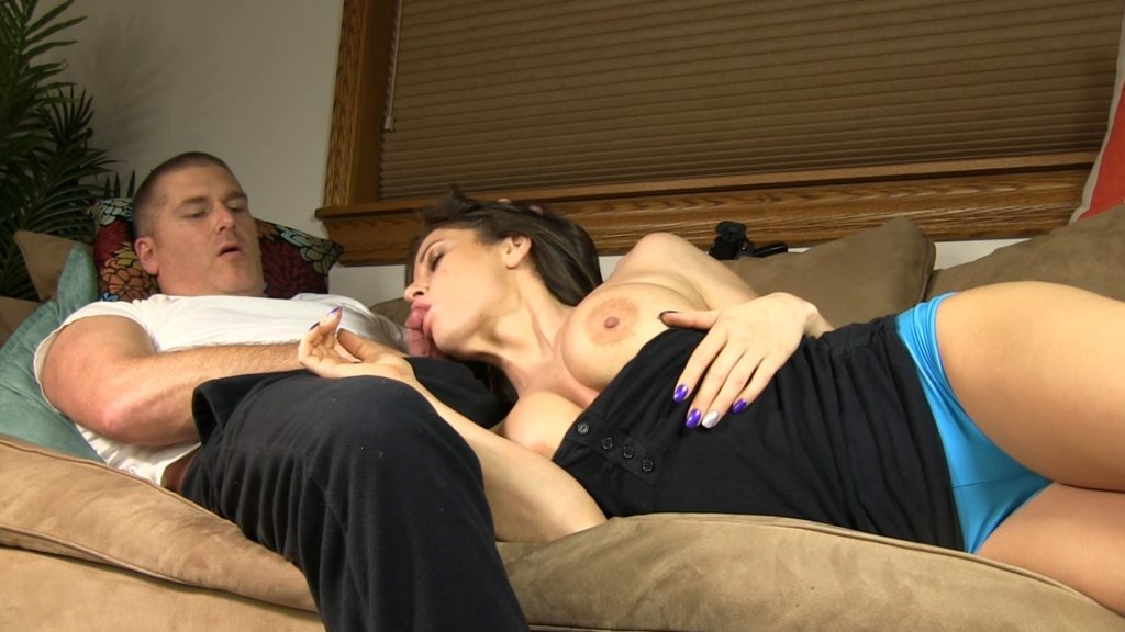 Mandy Flores fucks her step brother