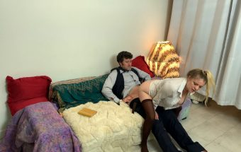 STEPDAUGHTER KEEPS CUMING EVERYWHERE AND GETS HER STEPDAD TO FUCK HER HARD – Erin Electra