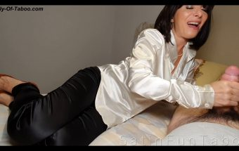 Mom too tired for big cock? satin blouse – Maria – SatinFunTaboo